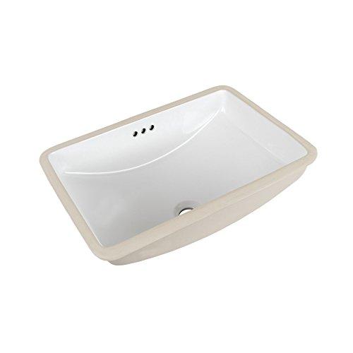 MAYKKE Bristol Ceramic Undermount Bathroom Vanity Sink in White