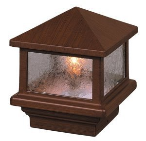 Sirius 12V Deck Light, 3 1/2u0026quot; (4x4 Wood) Post