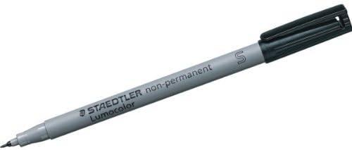 by Staedtler Black Pack of 10 Staedtler Lumocolor Non-permanent Pen 311-9 Superfine 0.4mm Line