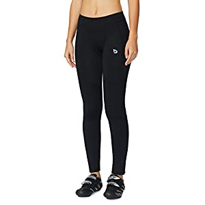 Baleaf Women's 3D Padded Cycling Tights Pants Black Size L
