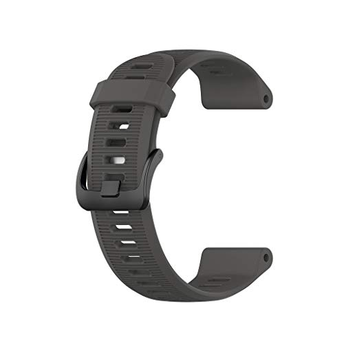 Huikeer Wristbands Compatible for Garmin Forerunner 945/935/Fenix 5/Plus, Silicone Sports Strap Replacement Bands (Gray)