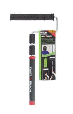 Shur-Line 6630C Premium Twist 'N Reach Premium Extension Pole w/ 9-Inch Roller Frame, Extends up to 3 Feet, Cushioned Comfort Handle