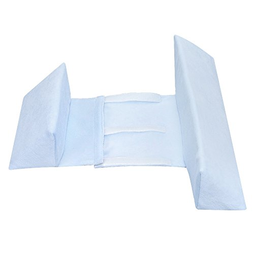 XYTMY Baby Side Sleep Pillow, Shaped and Washable Nursing Pillow for Toddlers, Anti-Polarity Head Pillow, Anti-Spitting Milk (Light Blue)