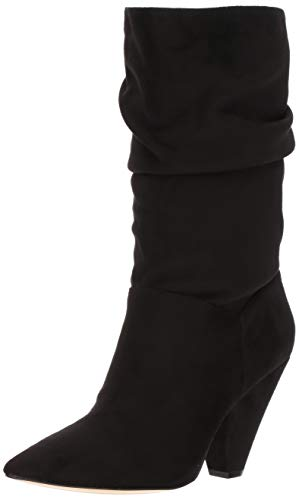 (Chinese Laundry Women's ROSA Mid Calf Boot, Black Suede, 6.5 M US)