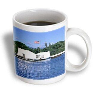 3dRose WWII Arizona Memorial, Pearl Harbor, Hawaii, US12 DPB0116 Douglas Peebles, Ceramic Mug, - Of Pearl Mother Coffee