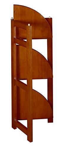 Regency Flip Flop 34-inch High Corner Folding Bookcase- Cherry by Regency (Image #4)