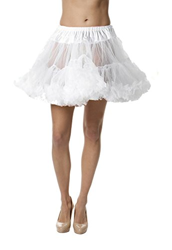 Petticoat Crinoline; Perfect adult tutu, princess tutu, or adult dance skirt. Also great as tulle skirt, short petticoat or with a vintage dresses. Tulle fabric - White (White Pettiskirt)