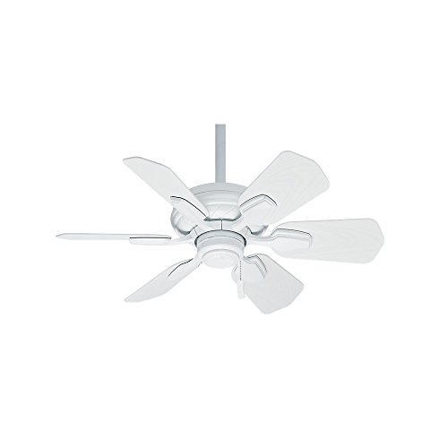 Casablanca Indoor / Outdoor Ceiling Fan, with pull chain control - Wailea 31 inch, White, 59523