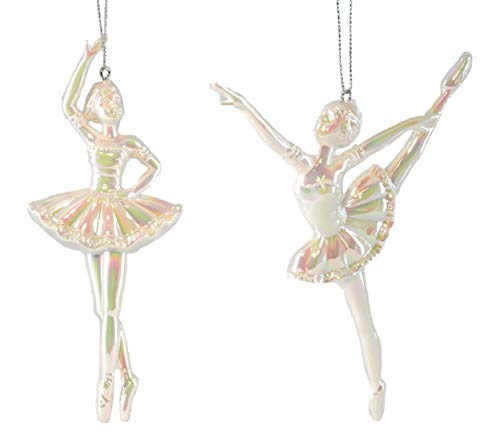 (Party Explosions Dancing Ballerinas Iridescent Hanging Ornaments - Set of)