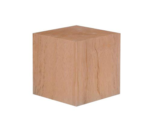 4 Inch Solid Wood Block Cube - 1 Block ()