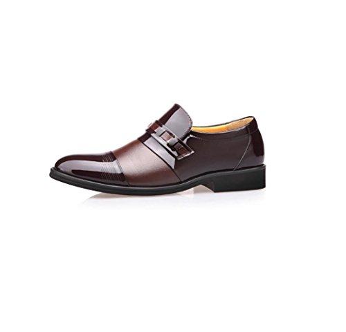 Arrondi Bande Printemps zmlsc Business Automne Hommes Été Doux Couleur Casual Cuir Chaussures Brown Pointu Hiver Sports 8fxpzfYqH