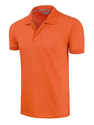Marq 75 Slim Fit Jersey Polo Shirt - Neon Orange, Large