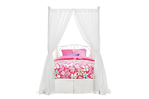 31k1V2pHkaL - DHP Canopy Bed with Sturdy Bed Frame, Metal, Twin Size - White