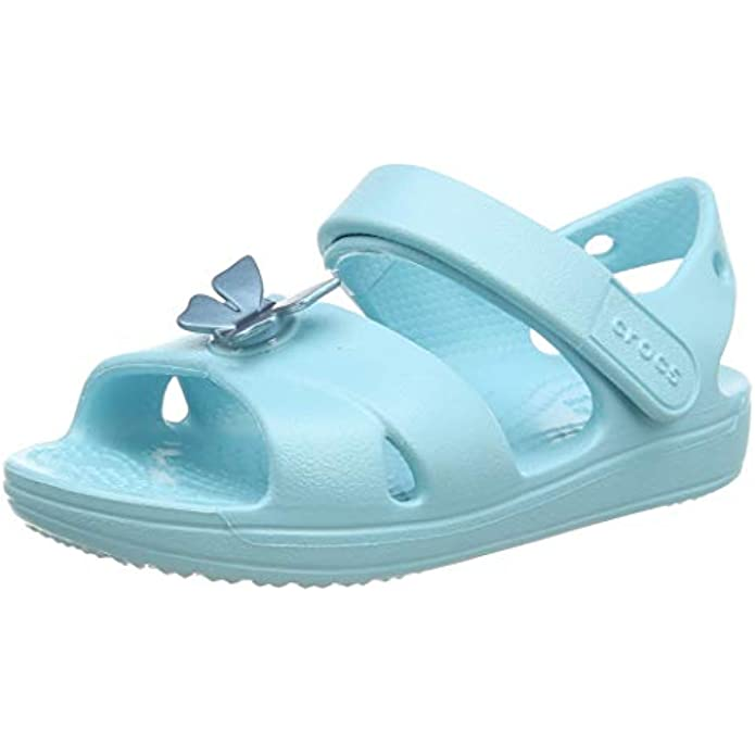 Crocs Kids' Classic Cross-Strap Sandal | Water Shoes | Slip On Shoes for Girls