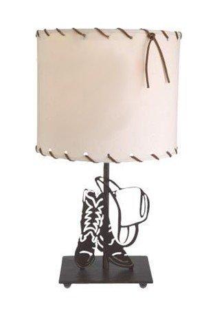 "Lazart® 18"" Cowboy Hat & Boots Table Lamp w/Parchment Shade, 60-Watt, 120-Volt"