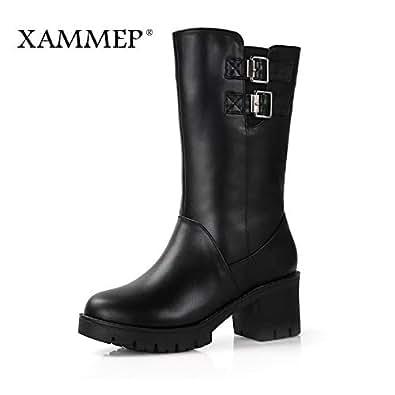 Amazon.com: Fumak Women Genuine Leather Boots Women Winter