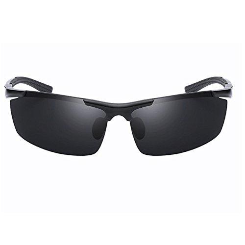 de soleil Lunettes Vintage Polarisées Mode Sport Incassable Magnésium Noir Femme Noir JULI Homme Alliage Aluminium Cadre BTS41Wx