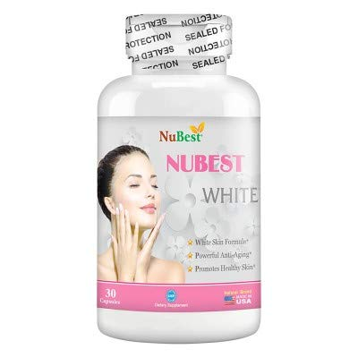 NuBest White - Natural Skin Whitening Anti-Aging formula with Glutathione, Milk Thistle Extract, L-Cysteine, Precious Herbs and Vitamins for Men & Women | Liver Health GSH Detox | All Natural Formula (Best Milk To Grow Taller)