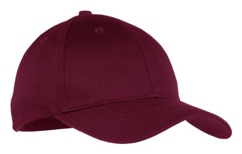 - Port & Company Boys' Six Panel Twill Cap OSFA Maroon