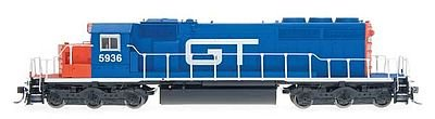 Ho Scale Grand Trunk - EMD SD40-2 - Standard DC -- Grand Trunk Western (blue, red, white)