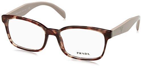 Prada Women's PR 18TV Eyeglasses Pink Havana - Pink Frames Prada Glasses