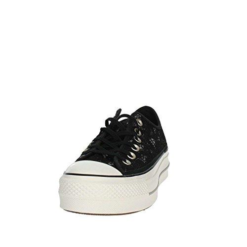 Nero Platform Sneaker Black Lacci Scarpe Basse Donna Pizzo 561287C Converse Nero xTZPnwqEOq