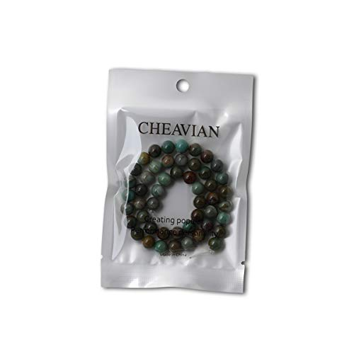 """CHEAVIAN 45PCS 8mm Natural Dragon Blood Jade Round Loose Beads Stone Beads for Jewelry Making 1 Strand 15"""""""