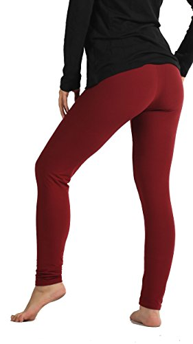 Premium Ultra Soft High Waist Leggings for Women - SL1 Burgundy - ()