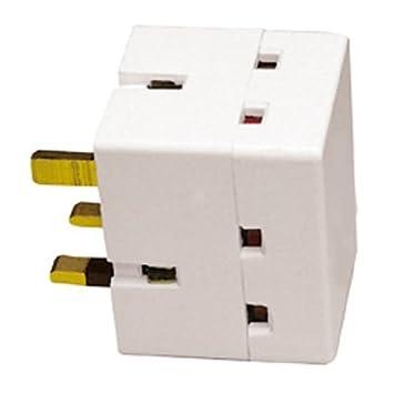 Eagle 13A 3-Way Block Socket Splitter Mains Adaptor: Amazon.co.uk ...