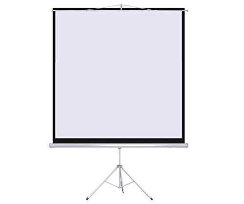 """Projection Screens New 100"""" Tripod Portable Projection Screen Square 70x70 Projector Stand Office"""