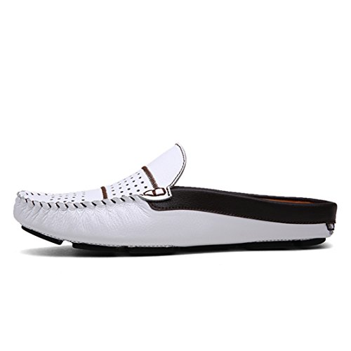 Loafters Comfortable Leather Tour Slip on Shoes Slippers Mens Go Scuff White Soft EnTzXaq
