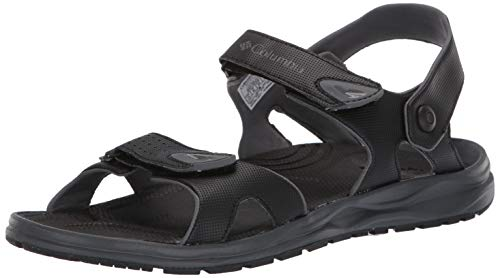 Columbia Men's WAYFINDER 2 Strap Sport Sandal, black, graphite, 8 Regular US