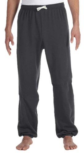 Bella 3737 Unisex Poly-Cotton Fleece Long Scrunch Pant - Dark Grey Heather, (Single Poly Rack)