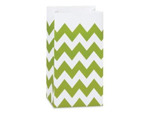(Apple Green Chevron Favor/treat Bags, Set of 48)