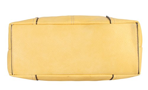 Diophy Womens 641 Pink Leather Handbag Purse AJ Soft Hobo PU 8I4Iqr