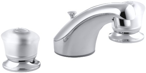 KOHLER K-15261-7-CP Coralais Widespread Lavatory Faucet, Polished Chrome Coralais Widespread Bathroom Faucet