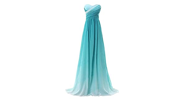 Sweetheart Womens Formal Evening Gowns Chiffon Long Bridesmaid Prom Dresses (12, green) at Amazon Womens Clothing store: