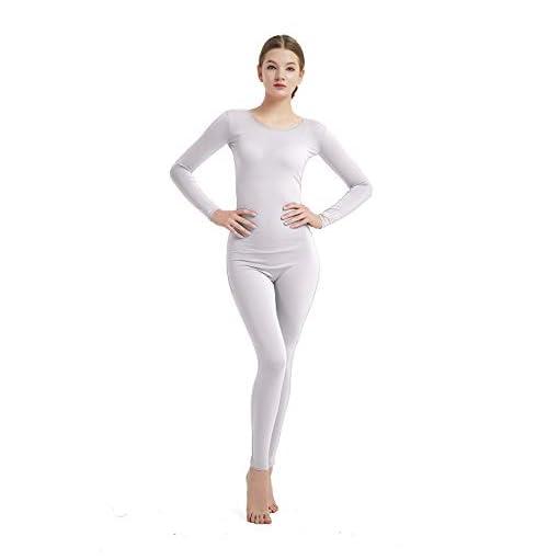 Full Bodysuit Womens Long Sleeve One Piece Jumpsuit Lycra Spandex Zentai Unitard