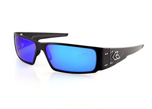Gatorz Octane Sunglasses, Metal Aluminum Frame, Military Tactical Style, Made in USA - Black Sunglasses Polarized Smoked/Blue Mirror - Glasses In 2017 Style Mens