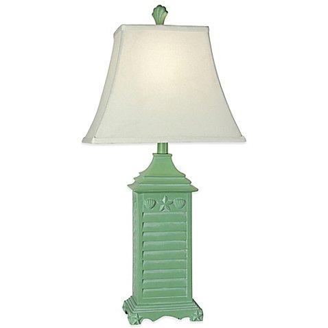 resin bamboo table lamp - 5