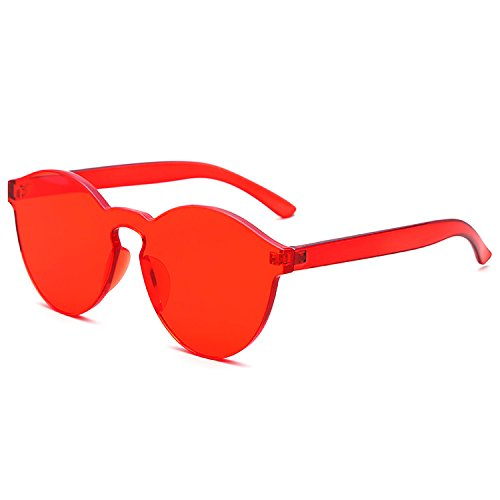 LKEYE-Fashion Party Rimless Sunglasses Transparent Candy Color Eyewear LK1737