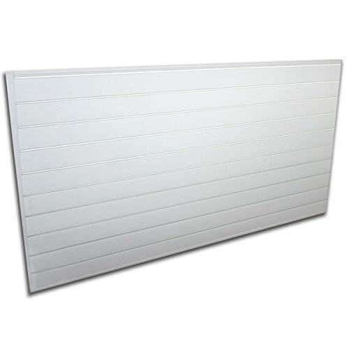 Duty PVC Slatwall Garage Organizer, 8-Feet by 4-Feet Section, White (Renewed) ()