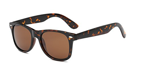 Aloyse Polarized Retro Sunglasses for Men Women Driving Fishing Cycling Outdoor Glasses - UV protection (Tortoiseshell, Dark - Protection The Polarized As Is Uv Same