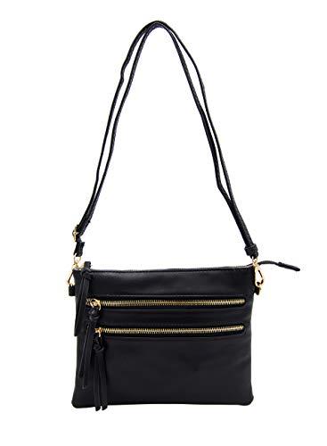 Isabelle Functional Women's Crossbody Shoulder Bag (Black)