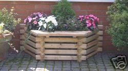 Intalogs Planter with Wooden Seat N Logs