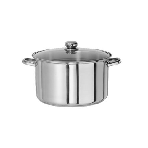 picture of Gourmet Chef SC-SS101 Stainless Steel Sauce Pan with Glass Lid, 1-Quart