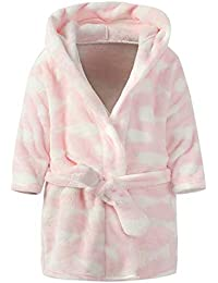 Ameyda Unisex Children's Flannel Bathrobes Hoodie, 1...