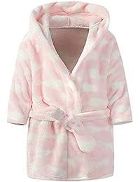 57283b6116 Ameyda Unisex Children s Flannel Bathrobes Hoodie