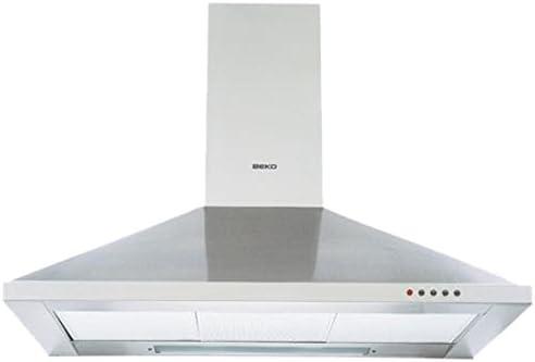 Beko CWB 9441 XN Decorativa Acero inoxidable 390m³/h - Campana (390 m³/h, Canalizado/Recirculación, 49 dB, Decorativa, Acero inoxidable, 2 bombilla(s)): Amazon.es: Grandes electrodomésticos