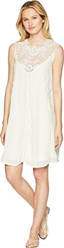 - Wrangler Women's Ivory Lace Yoke Swing Dress Ivory Medium